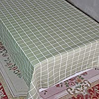 格子テーブルクロスリネンコットン装飾ホテルコーヒーテーブルダイニングテーブル食器雑巾 , I , 90*90cm