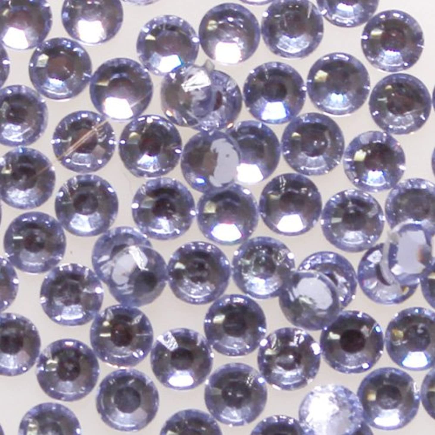 失効クアッガ毎月高品質 アクリルストーン ラインストーン ラウンドフラット 約1000粒入り 4mm ライトアメジスト
