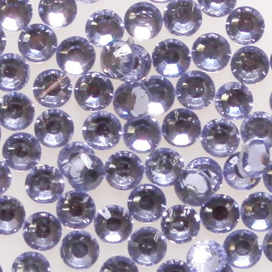 エンコミウムファンオーブン高品質 アクリルストーン ラインストーン ラウンドフラット 約1000粒入り 4mm ライトアメジスト