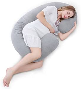 Meiz 抱き枕 妊婦 おすすめ 授乳 背もたれ 座りクッション 妊娠祝い プレゼント マタニティ C型 だきまくら シムス位 腰枕 横向き寝 抱きまくら 洗える 出産祝い
