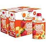 Happy Tot Organics Super Bellies Stage 4 Immune + Digestive Support Blend Organic Bananas, Carrots & Strawberries, 4 Ounce Po