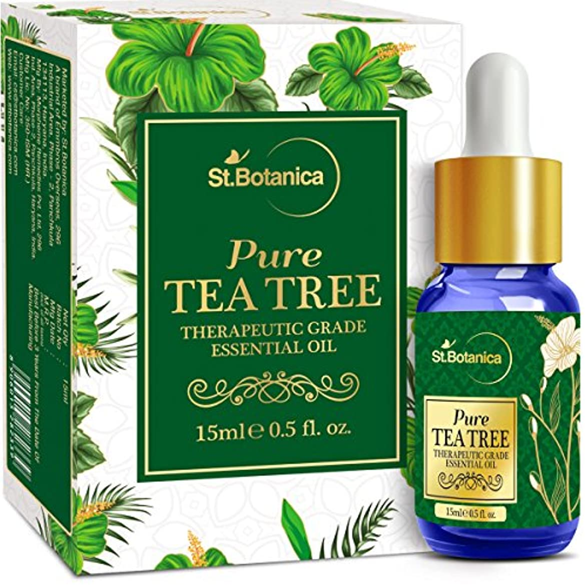 ずんぐりした強制否認するStBotanica Pure Tea Tree Essential Oil, 15ml