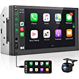 Double Din Car Stereo Compatible with Apple Carplay & Android Auto Play Hikity 7 Inch Touch Screen Car Radio with Bluetooth C