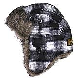 (アメリカンイーグル)AMERICAN EAGLE 帽子(フランネル) AEO PLAID FLANNEL TRAPPER HAT [並行輸入品]
