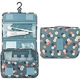 Hanging Travel Toiletry Bag - Auma Portable Storage Bag, Travel Organizer, Business Toiletries Bag for Men Shaving Kit and Wa