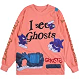 I See Ghosts Lucky Me Tshirt Hip Hop Rapper Tee shirt Cotton Long Sleeve Shirt