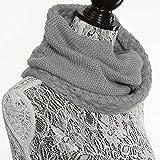 レディーススヌード お洒落 可愛い スカーフ ニットスヌード 秋冬 ファッション小物 女性ストール 首巻き マフラー ライトグレー