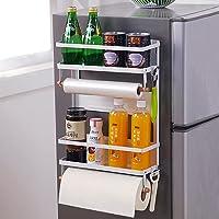 ddLUCK 冷蔵庫 マグネット スパイスラック 冷蔵庫ラック 調味料 収納 キッチンペーパーホルダー マグネット 調味…