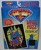 Craft House Vintage DC Comics Superman Mega Fuzz Picture Coloring Set Playset