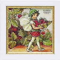 ユーパワー アートフレーム/植物・花 ストロベリーフェアリー W18xH18cm