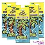 カリフォルニアセンツ パームツリー エアフレッシュナー 5枚セット 【バニラ】CALIFORNIA SCENTS Palms Hang Out Air Fresheners【MONTEREY VANILLA 】 芳香剤