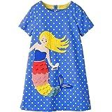 VIKITA 2020 Toddler Girls Summer Dresses Short Sleeve Outfit 3-8 Years