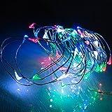 電光ホーム LEDジュエリーライト 5m50球 レインボー kjl-5m-rgb 乾電池式 常時点灯 点滅点灯