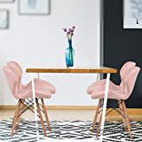 Levede 4X Retro Replica PU Leather Dining Chair Office Cafe Lounge Chairs Pink
