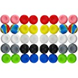 BeautyMood 40pcs Colorful Silicone Accessories Replacement Parts Thumb Grip Cap Cover for PS2 PS3 PS4 Xbox 360 Xbox One Contr