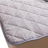 mofua natural フレンチリネン 100% 敷きパッド シングル ブルー 55540102