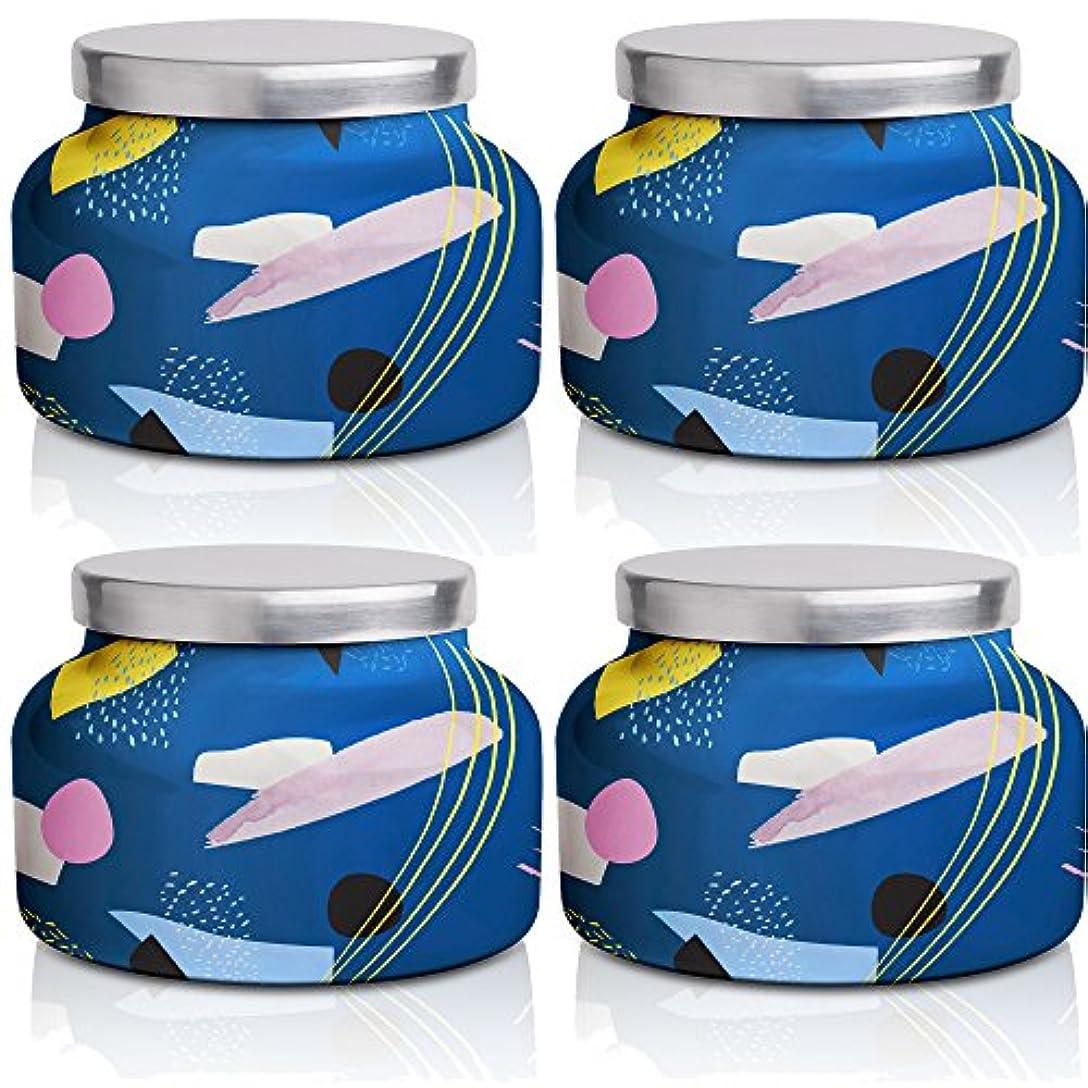首相傾いたキャベツカプリブルー19 oz Volcanoギャラリー署名Jar Candle4パック