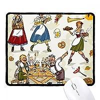 ドイツの朝食の習慣の文化 ノンスリップパッドゲームオフィスブラックtitchedエッジの贈り物
