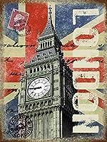 ロンドンビッグベン大きな金属看板   (London Big Ben og 4030)