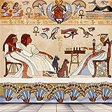 OFILA アンティーク エジプト パピルスとヒエログリフ バックドロップ 6.5x6.5フィート アフリカ古代文明 古典的建築 背景 カイロ エジプシャンファラオ トム 宗教 ソウルエテミティ トーテム 写真 ビデオ プロップ