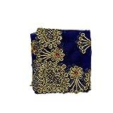 Aditri Creation Blue Medium Net chunari