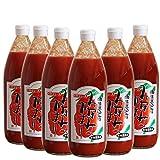 無添加ストレートトマトジュース 「みなみのかほり」 高知県産こだわり栽培トマトでつくった甘さスッキリ美味しいジュース 食塩無添加 1000ml×6本