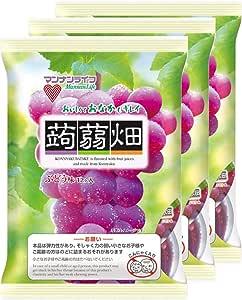 マンナンライフ 蒟蒻畑ぶどう味 25g×12個×3袋