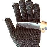 ZooooM ナイフ も 掴める 防 刃 手袋 切れない グローブ 安心 安全 高強度 ポリエチレン 繊維 ( ブラック ) ZM-BG1858-BK