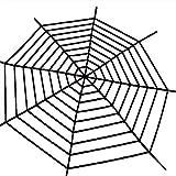 Best 3Mクリスマスデコレーション - ファイバー巨大蜘蛛の巣スパイダーウェブフェスティバルハロウィーンパーティーホームデコレーション 3m ブラック 9f Review