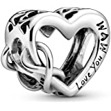 Pandora 798825C00 Love You Mum Infinity Heart Charm Silver 1.14 cm