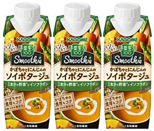 野菜生活100 Smoothie かぼちゃとにんじんのソイポタージュ 250g×3本