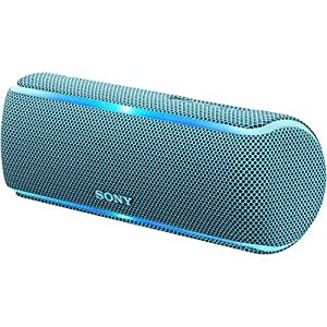 ソニー SONY ワイヤレスポータブルスピーカー SRS-XB21 : 防水・防塵・防錆/Bluetooth/専用スマホアプリ対応 ライティング機能搭載 2018年モデル ブルー SRS-XB21 L