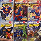 I Can Read Superman and Batman Level 2 - 6 Book Set (Superman Escape from the Phantom Zone Superman Versus Mongui SupermanVersus the Silver Banshee Batman Versus Man Bat Batman Reptile Rampage Batman Dawn of the Dyanmic Duo)