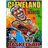 Lebron James Clevelandバスケットボールポスター–Limited Edition Fineアートバスケットボールポスター印刷枠なし18X 24–mega-star NBA Cleveland Cavaliers Lebron James