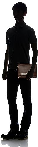 Grain Leather Clutch Bag 1332-699-4702: Dark Brown