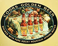 Coors Golden Beer Brewed Pureロッキーマウンテンスプリング水