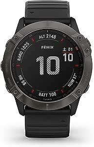 GARMIN(ガーミン) fenix 6X Sapphire Black DLC 音楽再生機能 マルチスポーツ型GPSウォッチ 最大21日間稼働 【日本正規品】