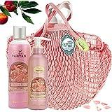 ROSE Woman Beauty Set - ロトデュオバス&ネットフィットケア:1シャワージェル250ml、1ボディローションモイスチャライザー200ml - ピンクの香水、ピーチ、パチョリ - 記念日のギフトのアイデア...