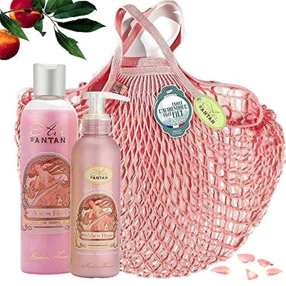 主導権品種軸ROSE Woman Beauty Set - ロトデュオバス&ネットフィットケア:1シャワージェル250ml、1ボディローションモイスチャライザー200ml - ピンクの香水、ピーチ、パチョリ - 記念日のギフトのアイデア...