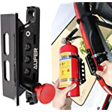 (1-Year Warranty) Universal Adjustable Roll Bar Fire Extinguisher Mount Holder Fit for Jeep Wrangler UTV Polaris RZR Can Am a