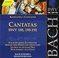 Bach: Cantatas, BWV 188, 190-192 (Edition Bachakademie Vol 57) /Rilling by Johann Sebastian Bach (2000-07-03)
