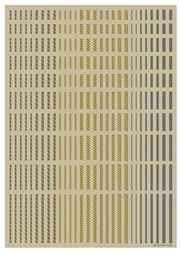ハイキューパーツ ラインデカール2 グレー+イエロー 1枚入 プラモデル用デカール LINED02-GRY