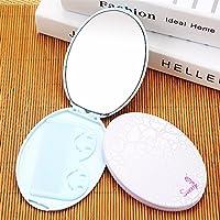 HuaQingPiJu-JP ミニオーバル小さなガラスミラー工芸品の化粧品アクセサリーのための円