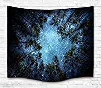(L59.2.5cm x 210cm , 10 forest Sky) - Tapestry Wall Hanging Wall Tapestry Forest Starry Tapestry Galaxy Tapestry Milky Way Tapestry Sky Tapestry Tree Tapestry Mandala Bohemian Tapestry for Bedroom Dorm Decor