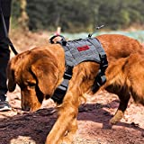 OneTigris Tactical Service Dog Vest - Water-Resistant Comfortable Military Patrol K9 Dog Harness with Handle (Large, Grey)