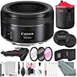 Canon EF 50mm f/1.8 STM Lens Kit w/Filters + Xpix 2-in-1Tripod +Xpix Deluxe Cleaning Kit + More