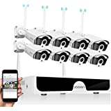 JOOAN 1080P Wireless Security Camera System,JOOAN 8×2MP Full HD Home Surveillance Outdoor WiFi CCTV Cameras with 8 Channel H.