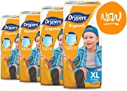 Drypers Drypantz Diapers, XL, Carton, 4 packs x 32 Count