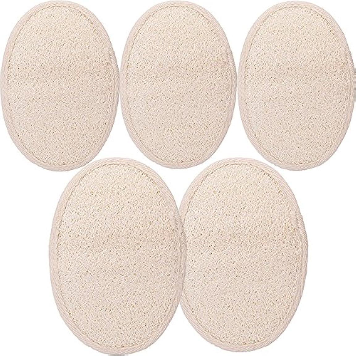 起きるサスペンション円周シャワー ベルト 天然ヘチマ お風呂用 背中も洗える 血行促進 角質除去 (SGP1-A-5PCS)