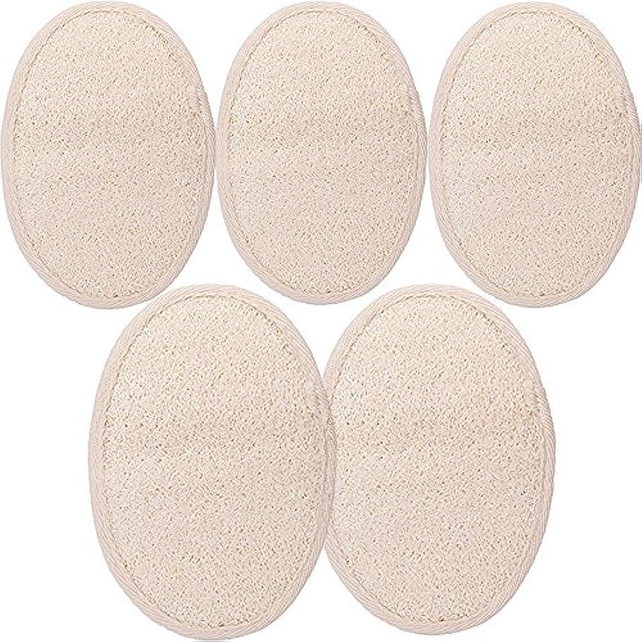 強制的ゲージ可愛いシャワー ベルト 天然ヘチマ お風呂用 背中も洗える 血行促進 角質除去 (SGP1-A-5PCS)